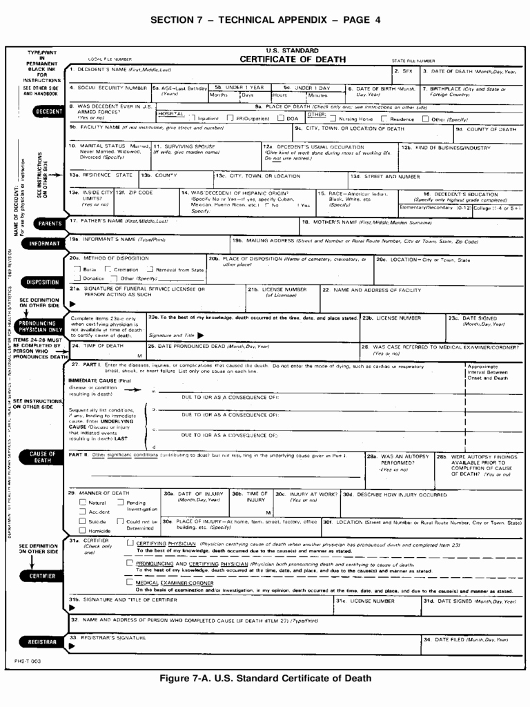 Death Certificate Template Word Best Of Death Certificate form 5 Free Templates In Pdf Word