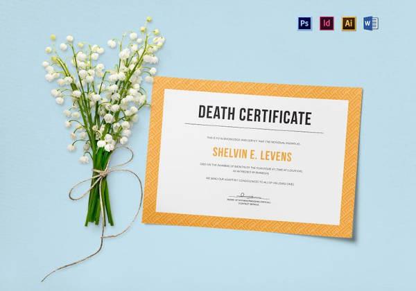 Death Certificate Template Word Elegant 13 Sample Death Certificate Templates Pdf Doc