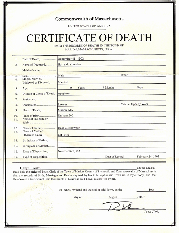 Death Certificate Template Word Inspirational August 2007