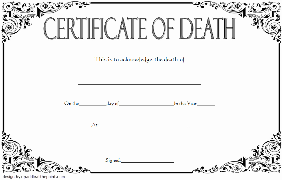 Death Certificate Template Word Inspirational Blank Death Certificate Template 7 Unwanted Documents