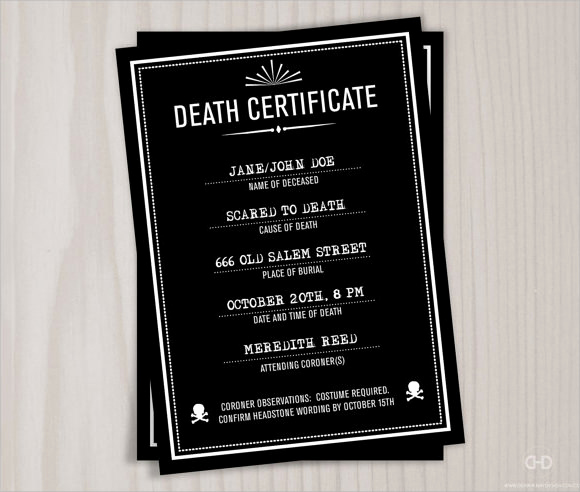 Death Certificate Template Word Luxury 9 Useful Sample Death Certificate Templates In Pdf