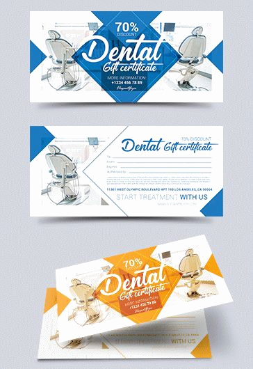 Dental Gift Certificate Template Beautiful Premium Gift Certificate Template