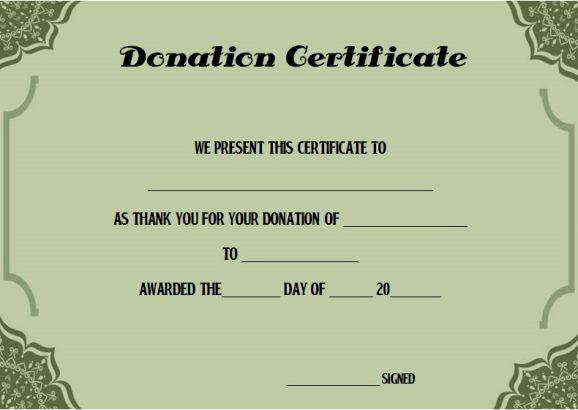 Dental Gift Certificate Template Inspirational 22 Best Donation Certificate Templates Images On Pinterest