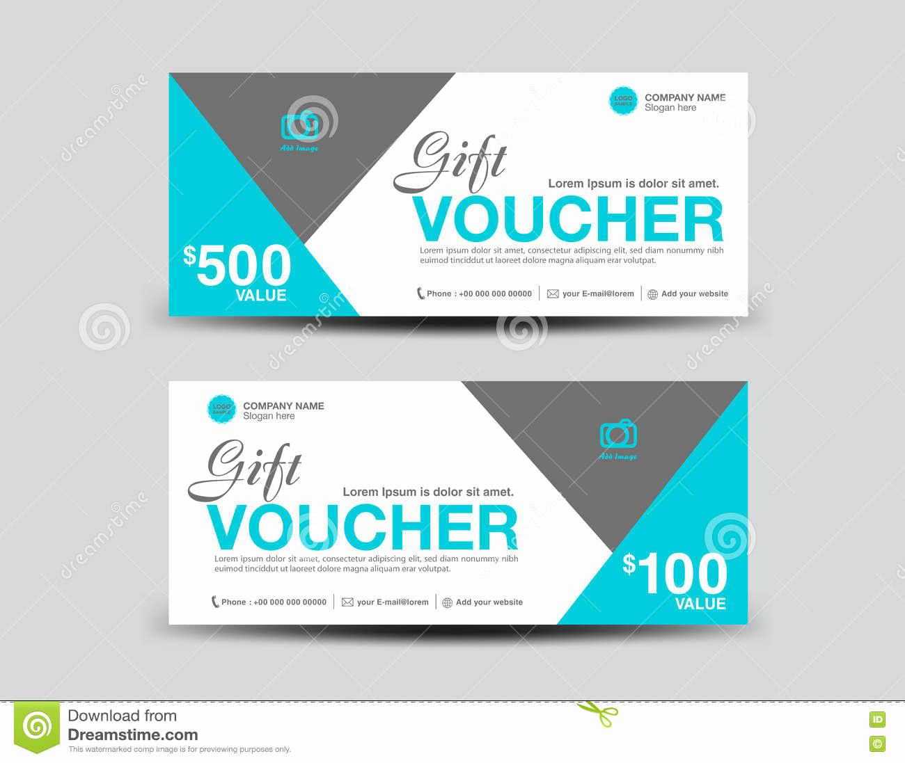 Dental Gift Certificate Template Lovely Blue Gift Voucher Template Flyer Design Polygon Background