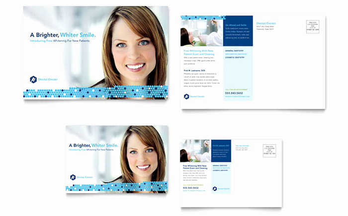 Dental Gift Certificate Template Luxury Dentistry & Dental Fice Postcard Template Design