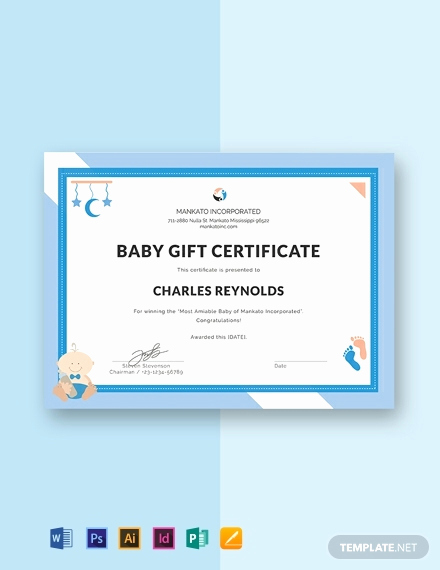 Dental Gift Certificate Template Luxury Free Baby Gift Certificate Template Word Doc