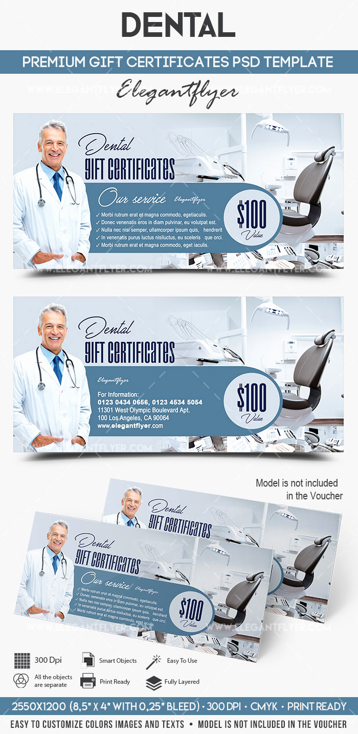 Dental Gift Certificate Template Unique Dental Gift Certificate Template – by Elegantflyer