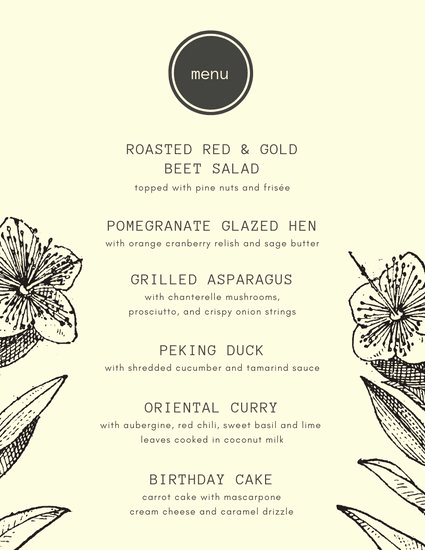 Dinner Menu Template Free Awesome Customize 197 Dinner Party Menu Templates Online Canva