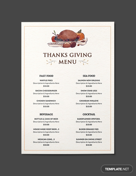 Dinner Menu Template Free Beautiful 75 Free Menu Templates Pdf Word Psd