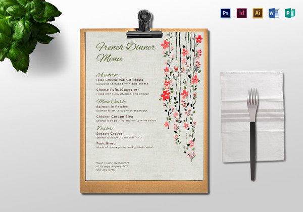 Dinner Menu Template Free Beautiful Dinner Menu Templates 35 Free Word Pdf Psd Eps