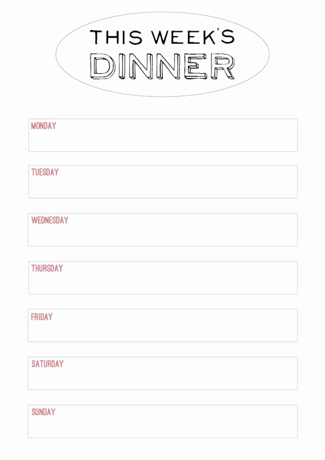 Dinner Menu Template Free Fresh Family Style Dinner – Printable Menu
