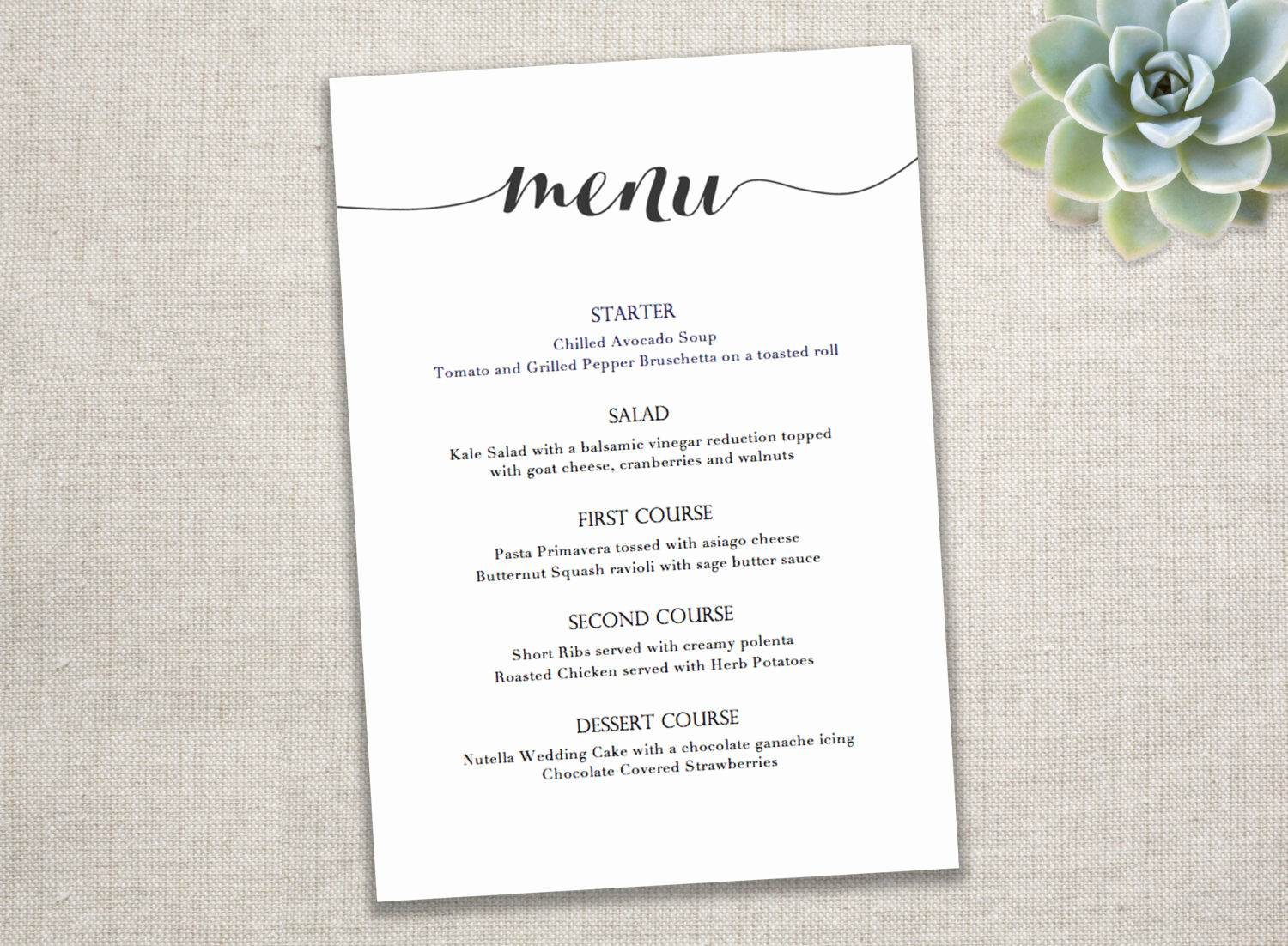 Dinner Menu Template Free Inspirational 10 event Menu Designs
