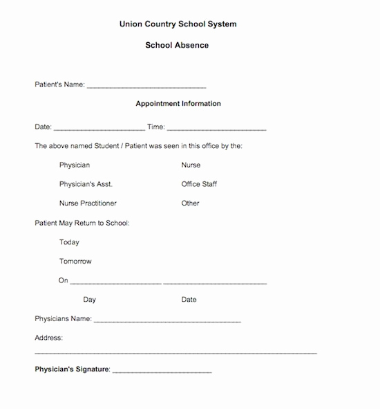 Doctor Excuse Note Template Fresh Using A Fake Doctors Note Download Excuse Notes and