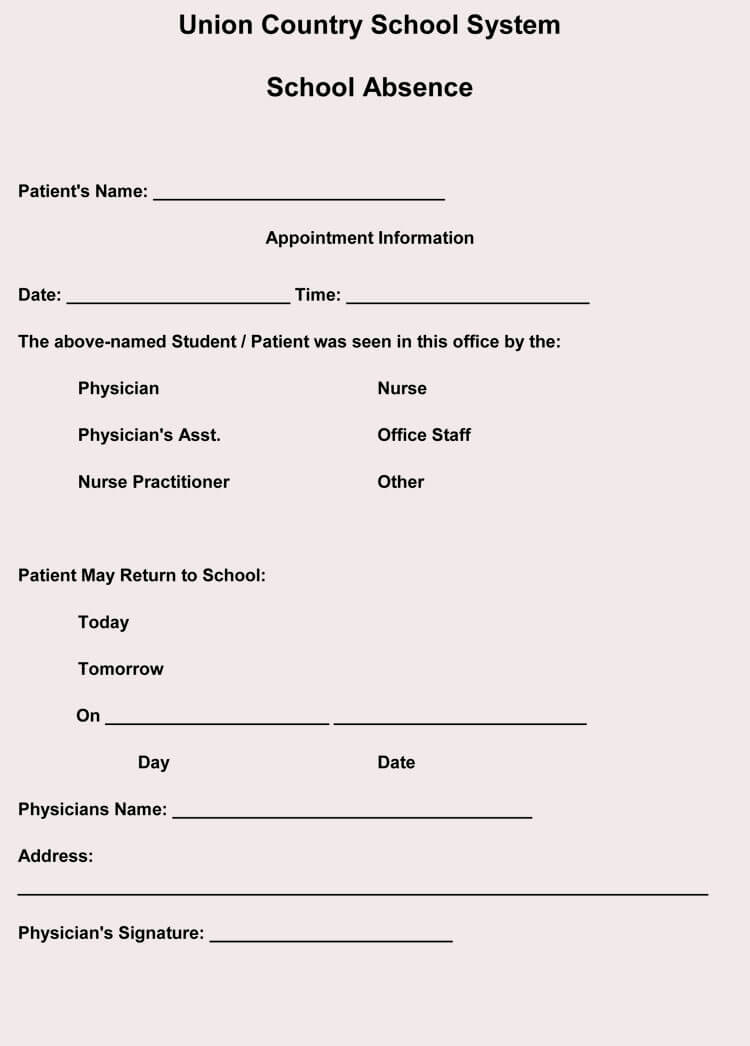 Doctor Excuse Note Template Inspirational Creating Fake Doctor S Note Excuse Slip 12 Templates