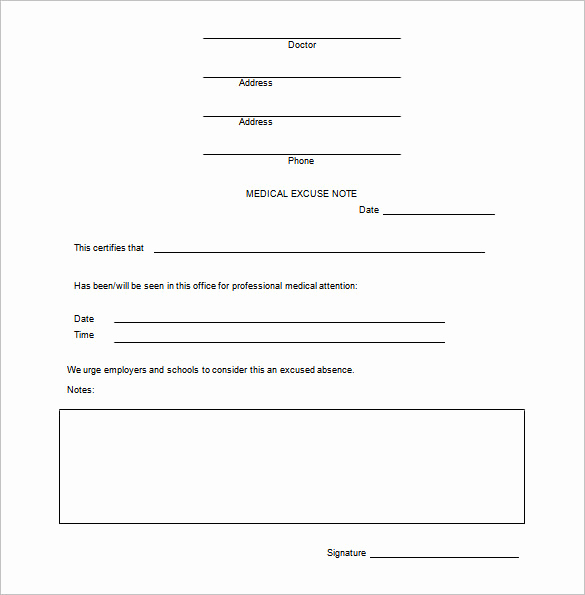 Doctor Excuse Note Template Lovely 15 Doctors Note Templates Pdf Docs Word