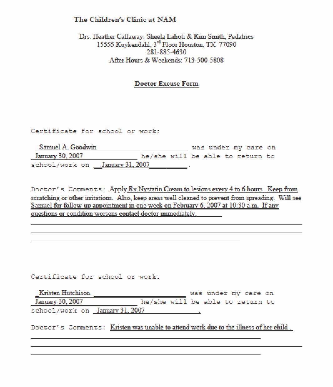 Doctor Excuse Note Template Unique 13 Doctors Note Templates Fake & Excuse Samples