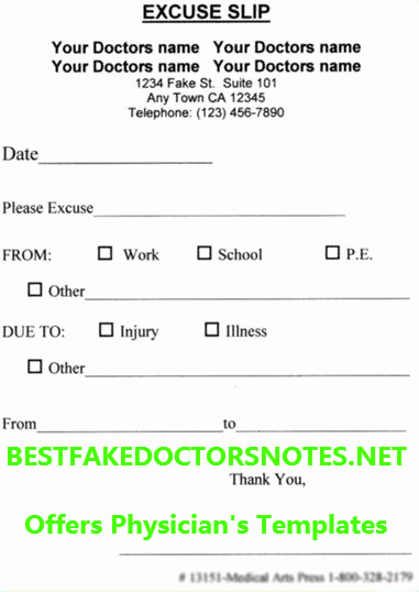 Doctor Note Template for Work Beautiful Using A Doctor's Note for A Day Off Work