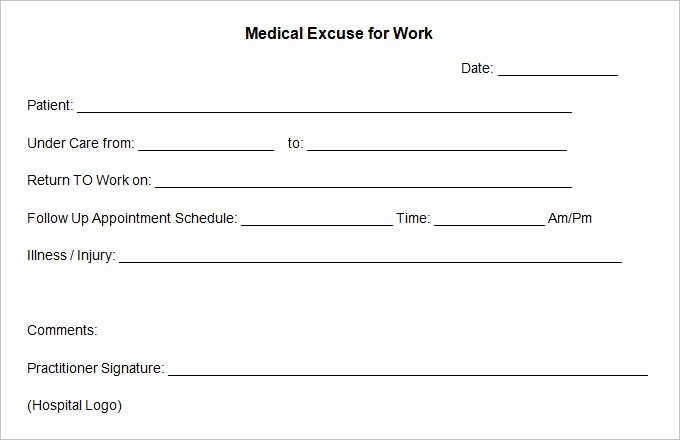 Doctor Note Template for Work Best Of 15 Best Doctors Note Templates Sample Example Word Pdf