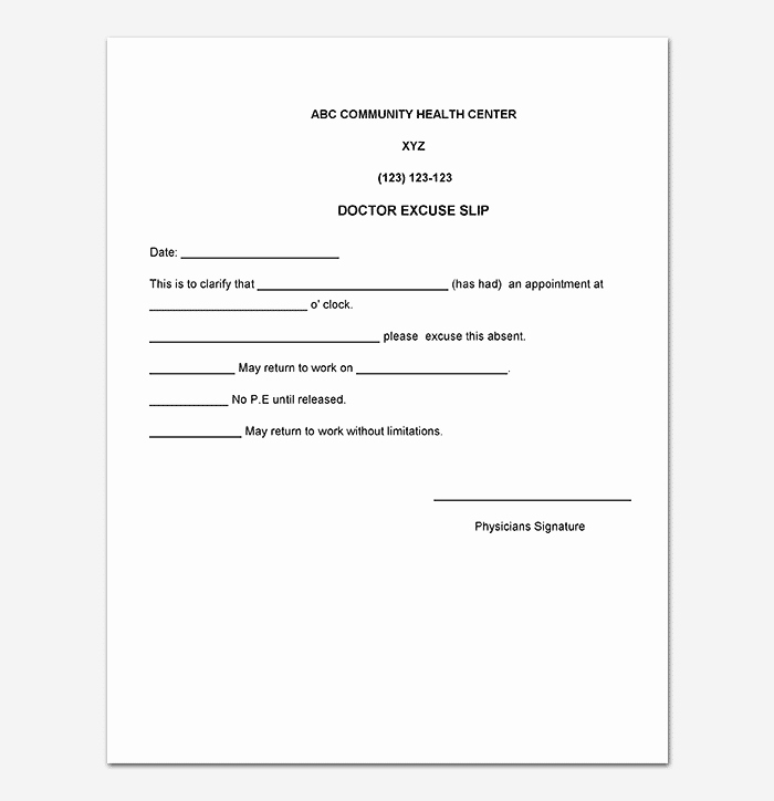 Doctor Note Template for Work Luxury Medical Note Template 30 Doctor Note Samples