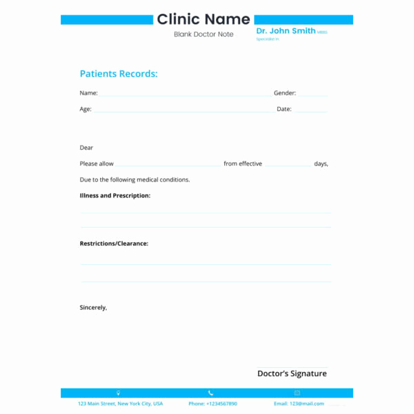 Doctor Note Template Free Download Best Of 28 Doctors Note Templates Pdf Doc
