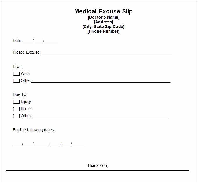 Doctor Note Template Free Download Elegant Doctor Excuse Template