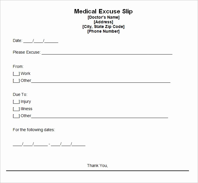 Doctor Note Template Free Download Inspirational 9 Best Free Doctors Note Templates for Work