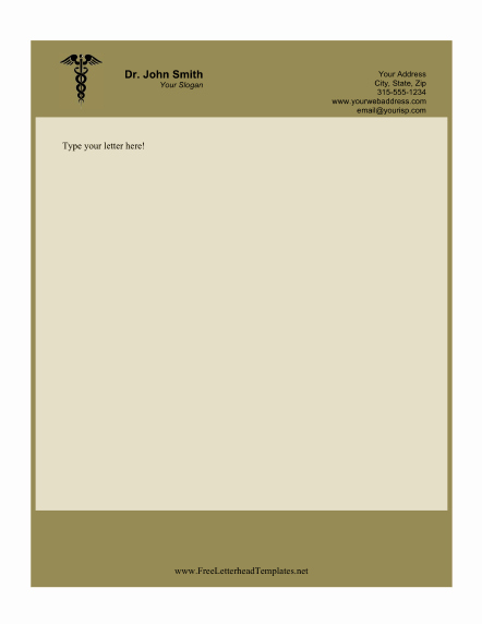 Doctor Note Template Free Download Lovely This Printable Doctor Letterhead Features the Caduceus
