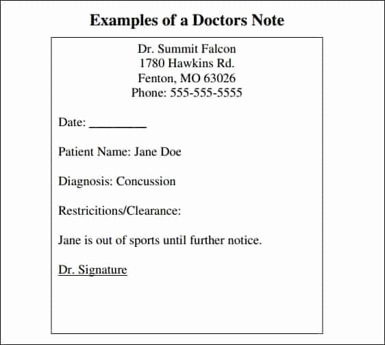 Doctor Note Template Pdf New 9 Doctor Note Templates Word Excel Pdf formats