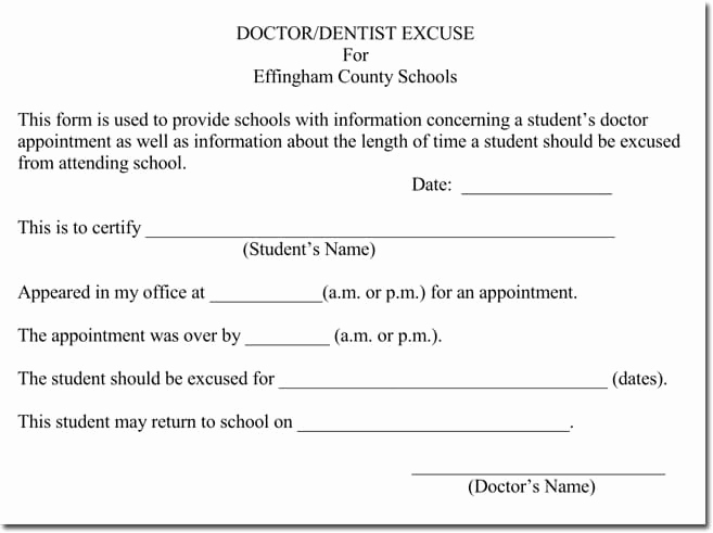 Doctors Note for School Template Lovely Doctor S Note Templates 28 Blank formats to Create