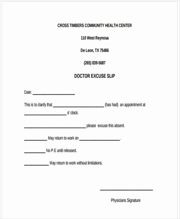 Doctors Note for Work Template Lovely 37 Free Doctors Note Templates