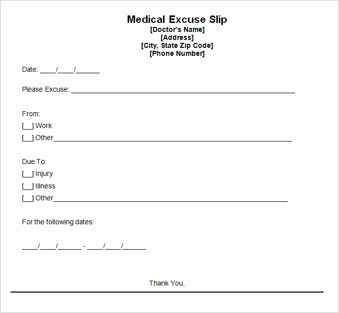 Doctors Note Template Download Free New 9 Best Free Doctors Note Templates for Work