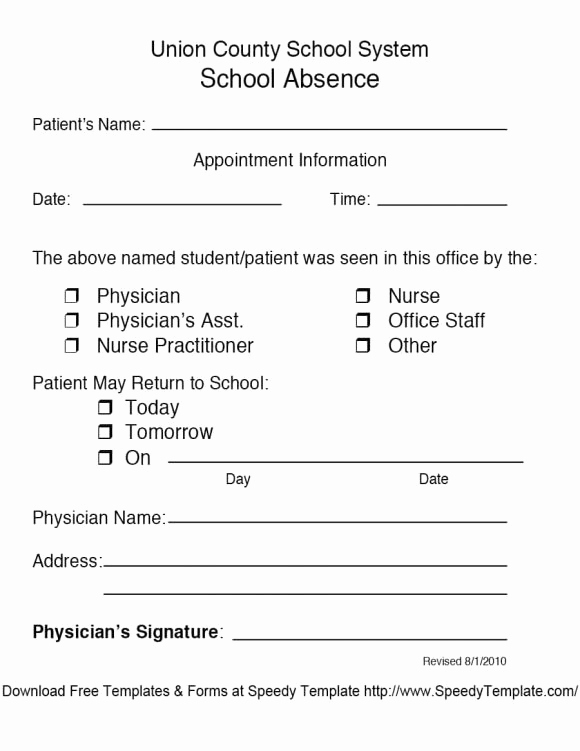Doctors Note Template Free Inspirational 42 Fake Doctor S Note Templates for School & Work