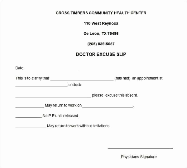 Doctors Note Template Word Beautiful 4 Free Doctors Note for Work Templates Word Excel