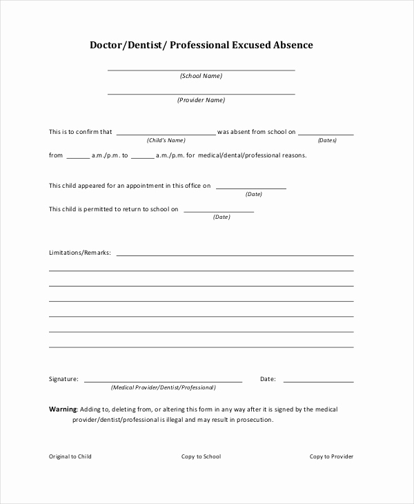 Doctors Notes for School Template Beautiful Doctor Note for School Absence – Emmamcintyrephotography