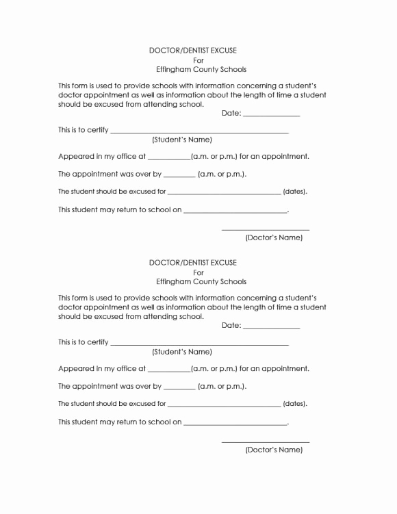 Doctors Notes for School Template Best Of 42 Fake Doctor S Note Templates for School & Work