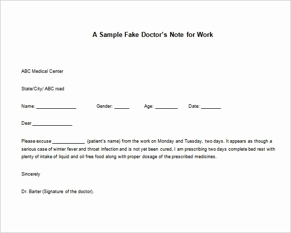 Doctors Notes for Work Template Elegant 12 Doctor Note for Work Templates Pdf Word Apple