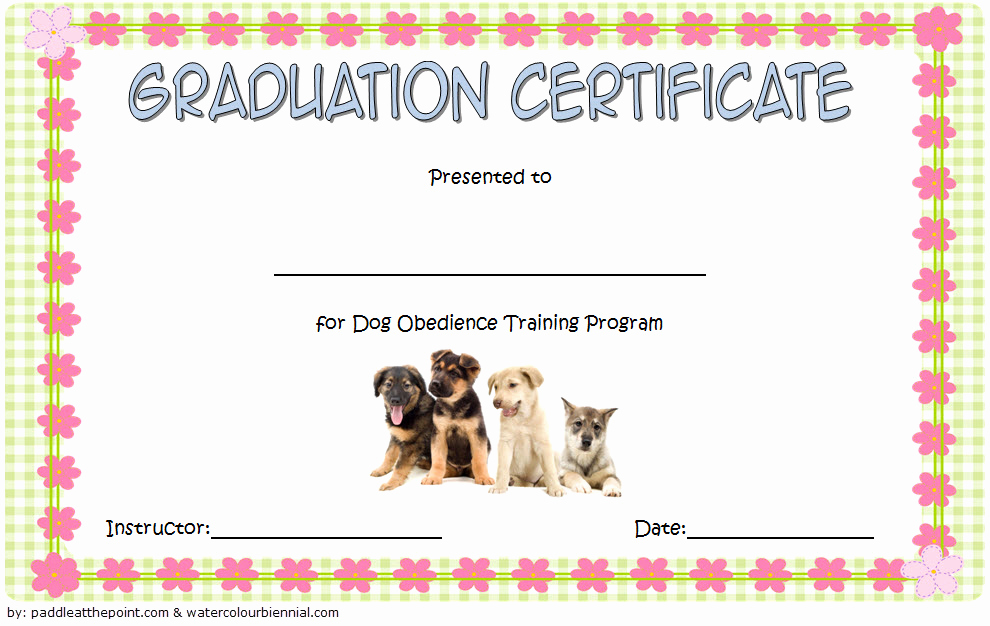 Dog Training Certificate Template Best Of Dog Obe Nce Certificate Templates [8 Free Download]