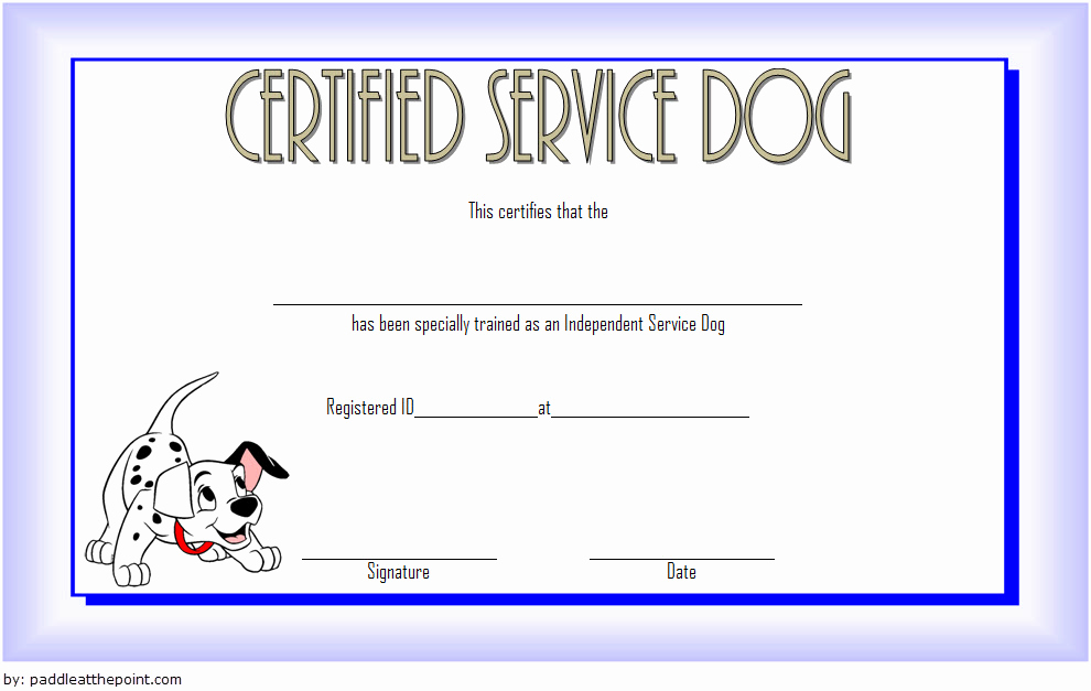 Dog Training Certificate Template Best Of Service Dog Certificate Template 7 Latest Designs