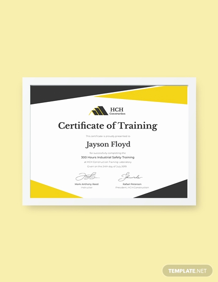 Dog Training Certificate Template Fresh Free Industrial Training Certificate Template Download