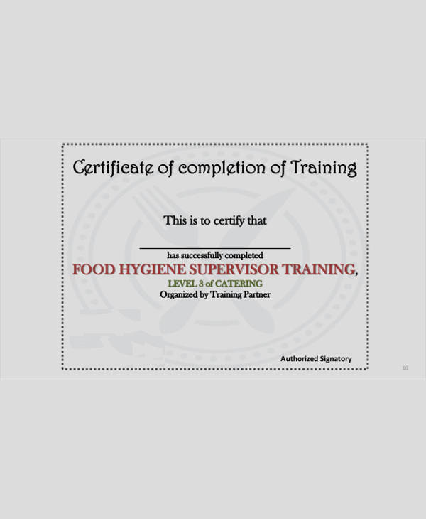 Dog Training Certificate Template Fresh Service Training Certificate 8 Sample Example