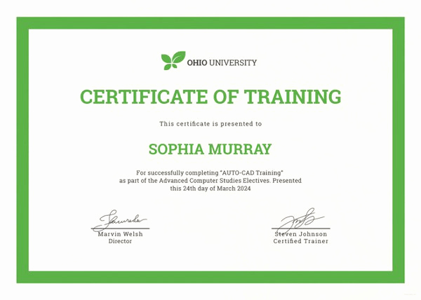 Dog Training Certificate Template Inspirational Training Certificate Template 27 Free Word Pdf Psd