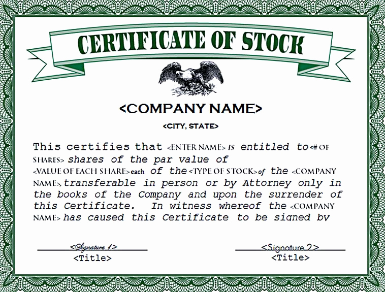 Download Stock Certificate Template Awesome Stock Certificate Template Free In Word and Pdf