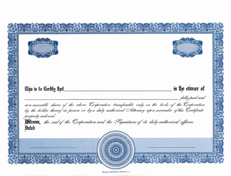 Download Stock Certificate Template Elegant Sharestock Certificate Template Word