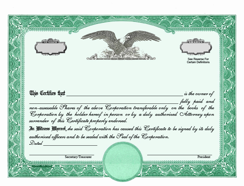 Download Stock Certificate Template Elegant Stock Certificate Designs