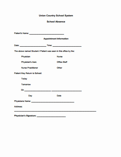 Drs Excuse Note Template Best Of Doctors Note for School Template Create Edit Fill and