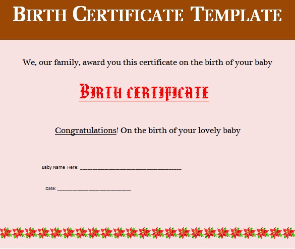 Editable Birth Certificate Template Elegant Birth Certificate Template 38 Word Pdf Psd Ai