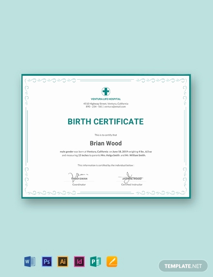Editable Birth Certificate Template Inspirational 10 Free Birth Certificate Templates Word
