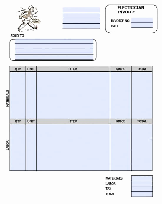 Electrical Contractor Invoice Template Elegant Electrical Contractor Invoice Template