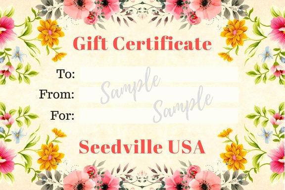 Email Gift Certificate Template Elegant Seedville Usa Gift Certificate Vintage Floral Design