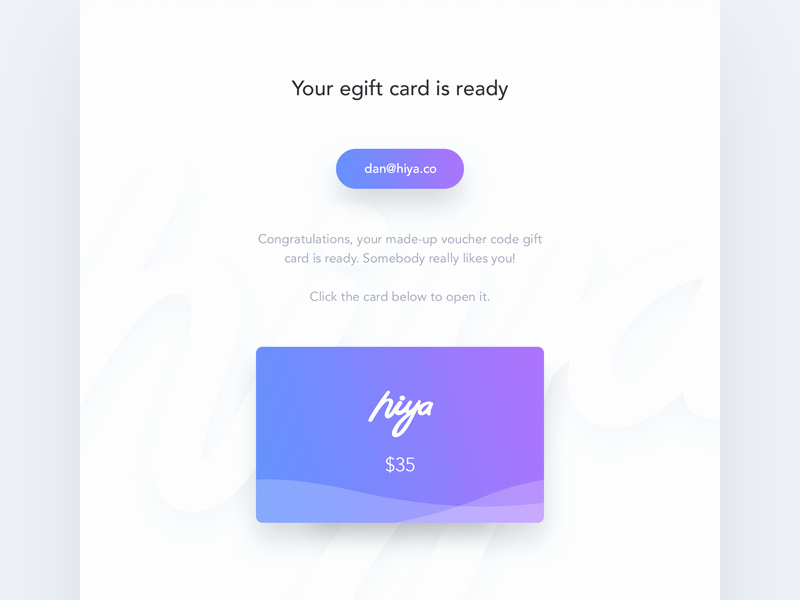 Email Gift Certificate Template Fresh Gift Card Email Template by Dan Baker Dribbble